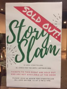 StorySlam 1-25-17 Sold Out